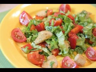 Рецепт - Вкусный и полезный САЛАТ с курицей и перцем [Simple Food - видео рецепты]