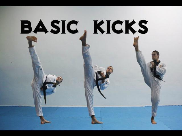 Базовые удары ногами в тхэквондо