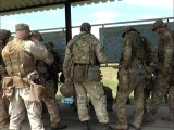 Инструкторы НАТО проводят занятия по огневой подготовке с кировоградскими спецназовцами