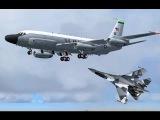 Лишь бы не нарваться на русских! Пилоты ВВС США прячутся за гражданскими самолетами (RC 135)