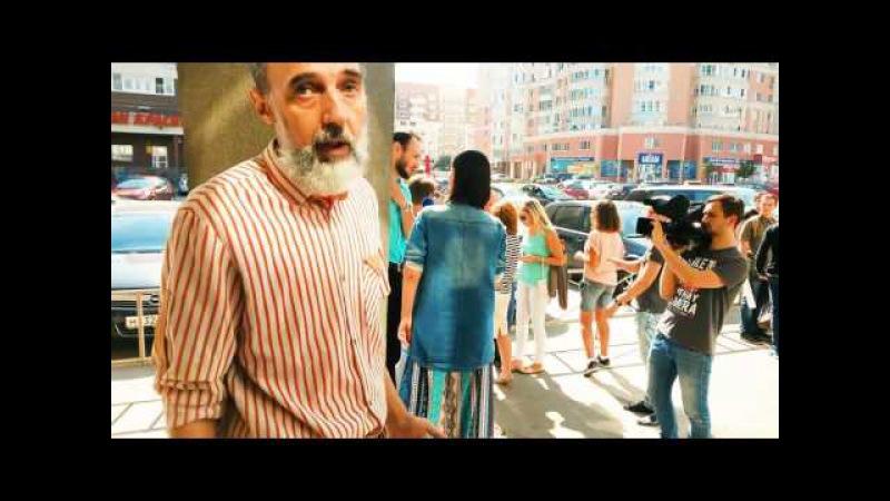Юрий Бархоткин на пикете Нового Рубежа у телекомпании Барс - Иваново