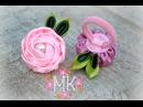 DIY Rose Троянда Резинка для волосся Канзаші MK