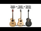 Yamaha APX500II VS Yamaha APX700 VS Takamine NPT-110 Sound Review Part 2 (picking)