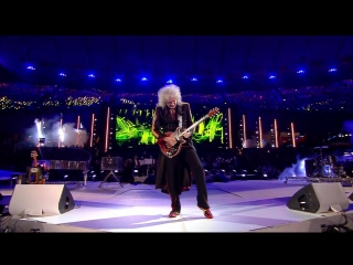 Freddie Mercury, Brian May, Roger Taylor and Jessie J = На закрытие Олимпиады в Лондоне