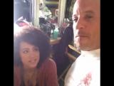Вин и Натали на съёмках Форсажа 8