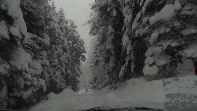 Зима в Мухинском ущелье (Теберда). Источник Барадин Узденов
