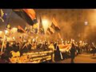 В Киеве прошел факельный марш Бандеровцев