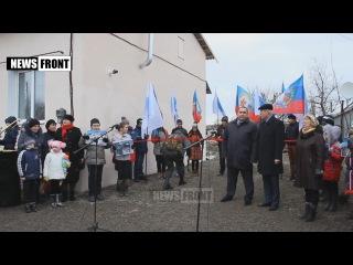 Жители Новосветловки получили ключи от домов, построенных ЛНР взамен разрушенных хунтой