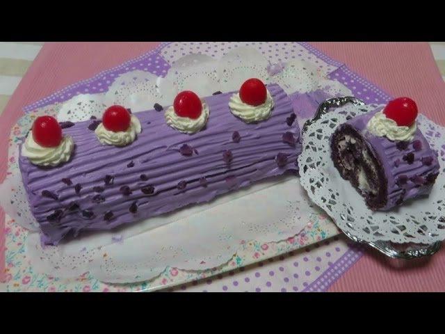 'Ube Roll Cake