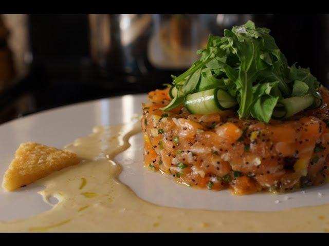 Salmon Tartare w/ Lemon Confit - Bruno Albouze - THE REAL DEAL