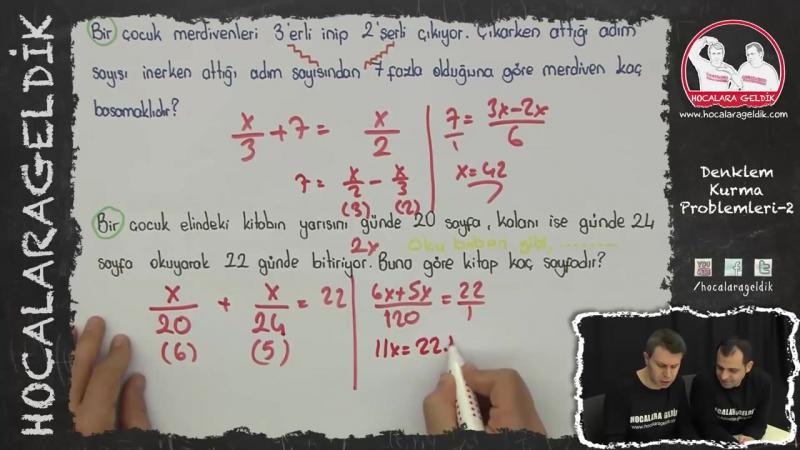 Denklem Kurma Problemleri -2 - YGS LYS LİSE - Matematik - Hocalara Geldik