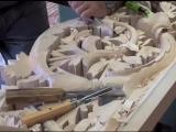 Резьба в стиле барокко. Wood carved baroque ornament