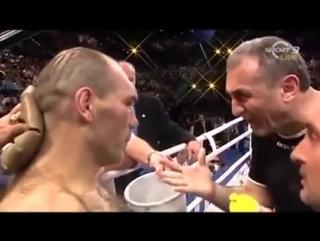 Ведущий Спорт FM и его тренер Манвел Габриелян :) Так с Валуевым мог разговаривать только он