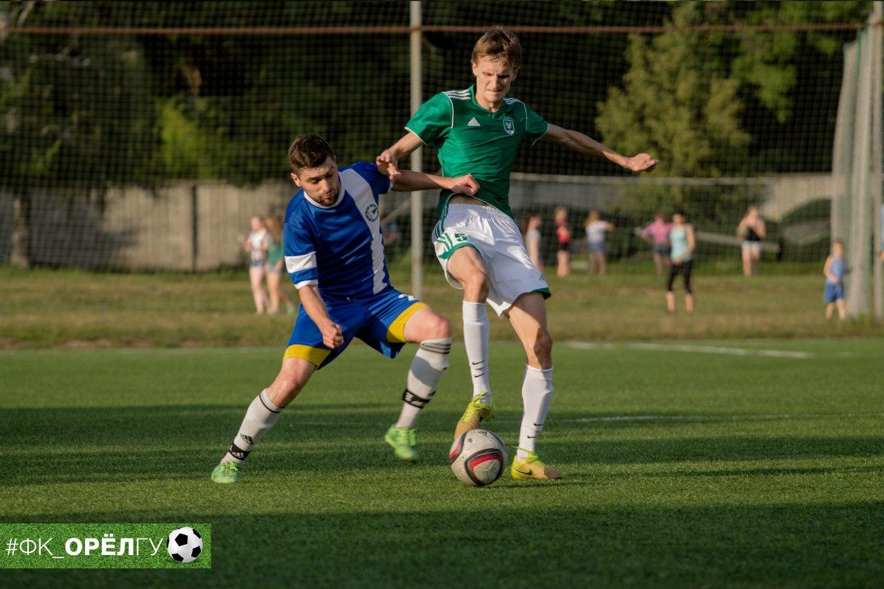 Завтра футболисты ОрелГУ  повторно сыграют с липецкими «технарями»