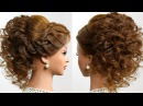 Romantic hairstyle for long hair. Prom wedding updo. Tutorial