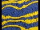 Узор машинного вязания. Зиг-заг с защипами. №76. Миссони