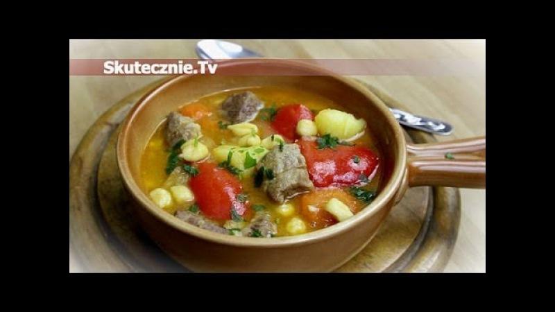Gulyas -gulasz węgierski z warzywami i csipetke :: Skutecznie.Tv [HD]