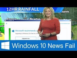 Microsoft Windows 10 Update Interrupts Weather News Blooper