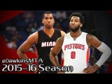 Hassan Whiteside vs Andre Drummond BEASTS Duel 2015.11.25 - 33 Pts, 33 Rebs, 8 Blks Combined!