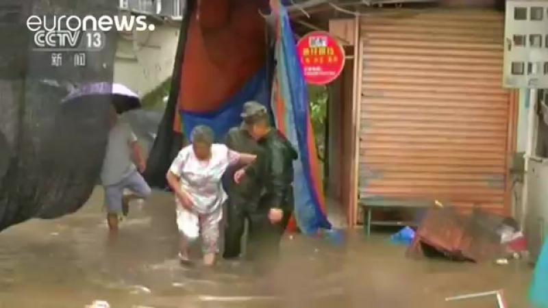 Тайфун Меранти в Китае