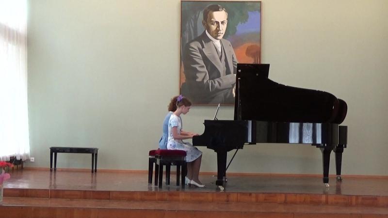 На последнем концерте выпускницы музыкальной школы. С. Джоплин. Регтайм Конферансье