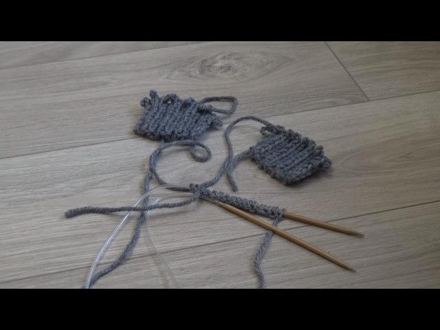 DIY / Своими руками: Вязание на спицах. Эластичный (итальянский) набор петель СРА...