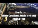 How To Honda Shadow VT750 VT1100 Carb Clean Rebuild 1995 2007
