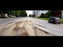Улицы Перми из кабинки трамвая № 10