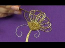 Hand Embroidery - Goldwork tutorial. Part 5 - Cutwork finished piece.