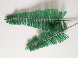 Лист папоротника из бисера. Fern leaf out of beads. Бисер с Анной