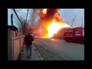 Взрыв в Кизляре, на заправке сегодня