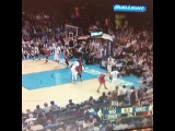 Check out this out of bounds, late in shot clock, play from Westbrook to KD to Westbrook