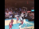 Serge Ibaka's first quarter: 5 points, 5 rebounds, 3 assists, 2 blocks and this rebound putback