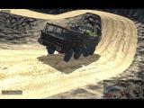 Unity Realistic Vehicle Physics - Tatra Carrying Jeep Down Mountain