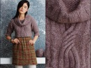 10 Cropped Cabled Pullover, Vogue Knitting Fall 2014