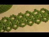 Тесьма с маленькими цветочками вязанная крючком. Ирландское кружево. Видео-урок.