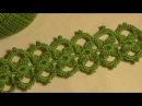 Тесьма с маленькими цветочками вязанная крючком Ирландское кружево Видео урок