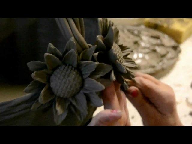 Ceramic flowers hand made by Italian expert artisans