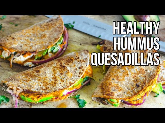 Healthy Hummus Quesadillas Quesadillas con Humus de Pimientos Asados