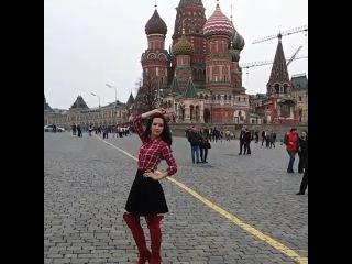 Natalia Oreiro на Красной Площади