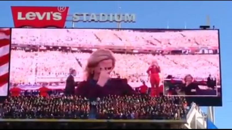 Marlee Matlin Lady Gaga - National Anthem at Super Bowl 50