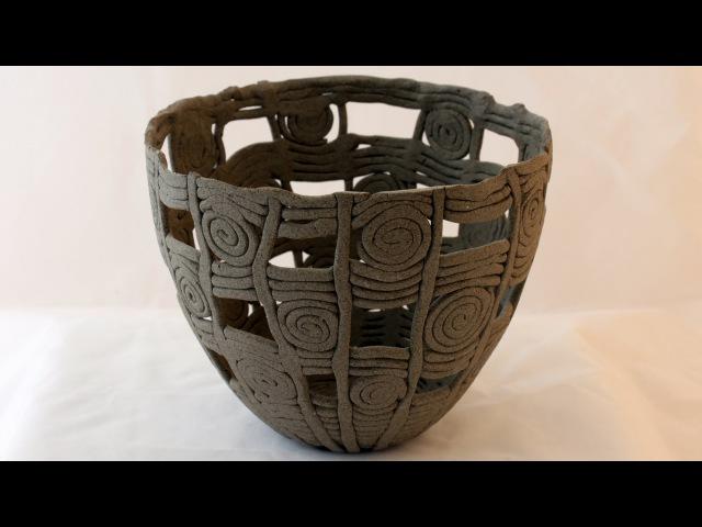 Geflochtenes Keramik Windlicht