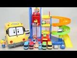 뽀로로 주차장 과 타요 폴리 장난감 мультфильмы про машинки Пороро Игрушки Tayo the Little Bus Car Toys