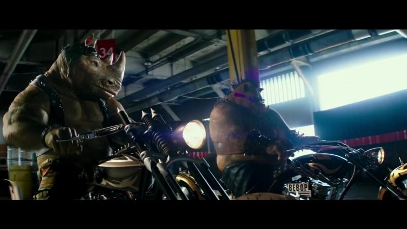 Черепашки ниндзя 2 (Teenage Mutant Ninja Turtles Out of the Shadows) (2016) трейлер 2 русский язык HD Черипашки нинзя мутанты