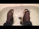 Fully clothed gold and ballerinas bath