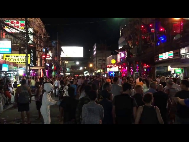 Bangla road walking street Patong beach Phuket Thailand 2016