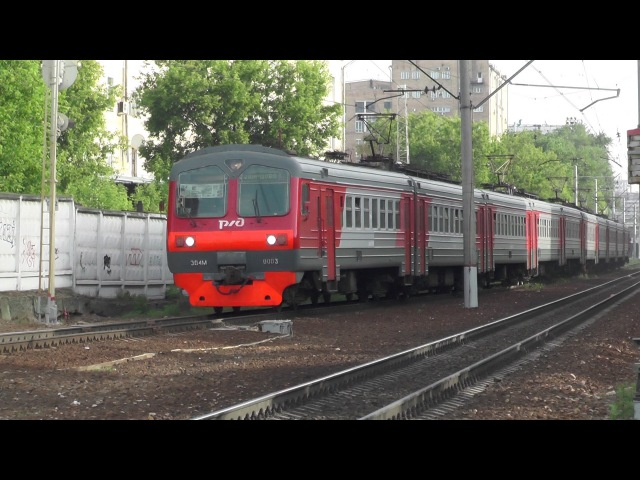 Электропоезд ЭД4М-0003 станция Москва-Пассажирская-Смоленская