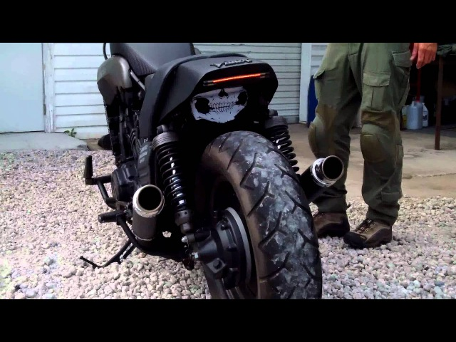 Custom 1988 Yamaha VMax Bare Bone Rides Stealth Black Ops Build Fired up and Running