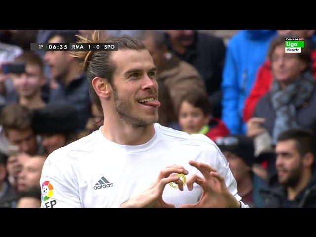 Gareth Bale vs Sporting Gijon Home