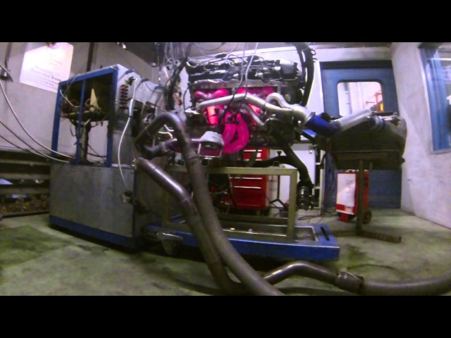 BMW N54B30 stock engine on dyno with KMS MD35 ecu